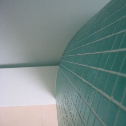 junction with shower wall