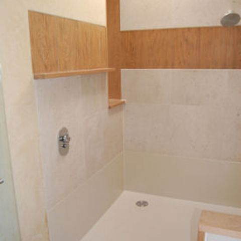 new solid surface shower area