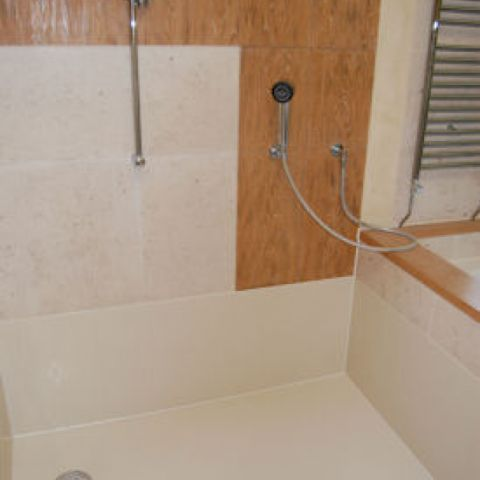 finished Solidity wet room floor