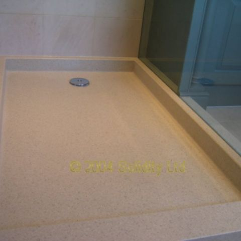 HI-MACS shower tray